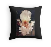 Peach Iris Throw Pillow