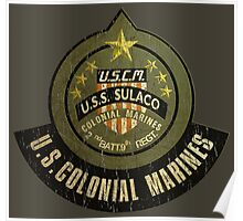 Aliens US Colonial Marines patch grunge Poster