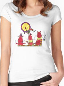 3 cats & Little Bird Woody Women's Fitted Scoop T-Shirt