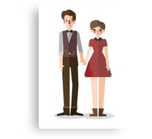 Clara and The Doctor Metal Print