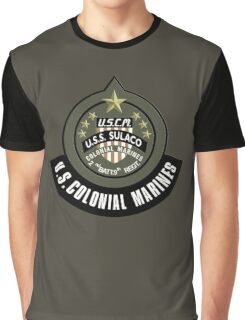 Aliens US Colonial Marines patch Graphic T-Shirt