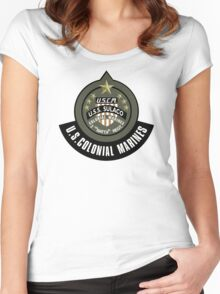 Aliens US Colonial Marines patch Women's Fitted Scoop T-Shirt