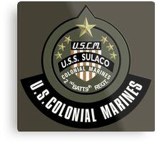 Aliens US Colonial Marines patch Metal Print