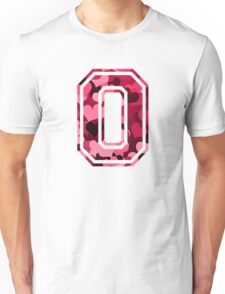 College letter O with hearts pattern Unisex T-Shirt