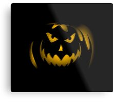 Scary face pumpkin phone cases cell phone cases phone covers custom phone cases cell phone accessories Metal Print