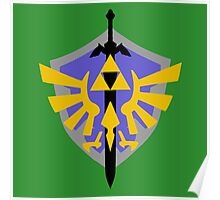 Triforce Shield and Sword Poster