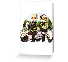 Motor cops Greeting Card