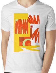 Rust Gold 3 Abstract Mens V-Neck T-Shirt