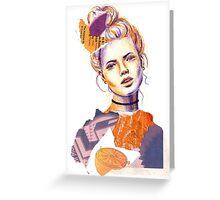 Tangerine Violet Greeting Card