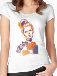 Tangerine Violet Women's Fitted Scoop T-Shirt