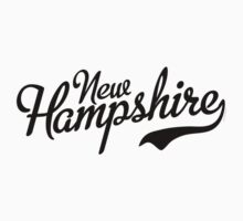New Hampshire Script Black Kids Clothes