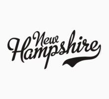 New Hampshire Script Black Kids Clothes