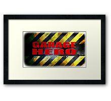 Garage Hero Framed Print
