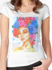 FACE OF SPRING Women's Fitted Scoop T-Shirt