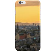 Edinburgh Skyline at Sunset iPhone Case/Skin