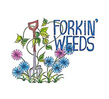 Forkin Weeds Photographic Print