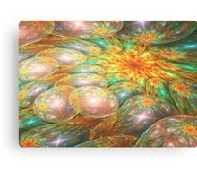 Swirling oil spill Canvas Print