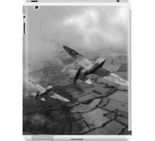 Spitfires among low clouds B&W version iPad Case/Skin