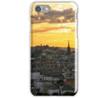 Sunset over Edinburgh Castle from The Crags, Scotland iPhone Case/Skin