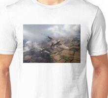 Spitfires among low clouds Unisex T-Shirt