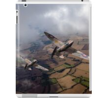 Spitfires among low clouds iPad Case/Skin
