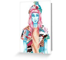 Brick Lane Girl Greeting Card