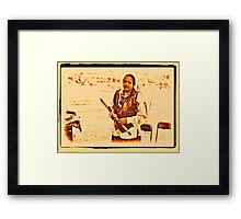 """American Native from the Crow Nation, version 2""... prints and products Framed Print"