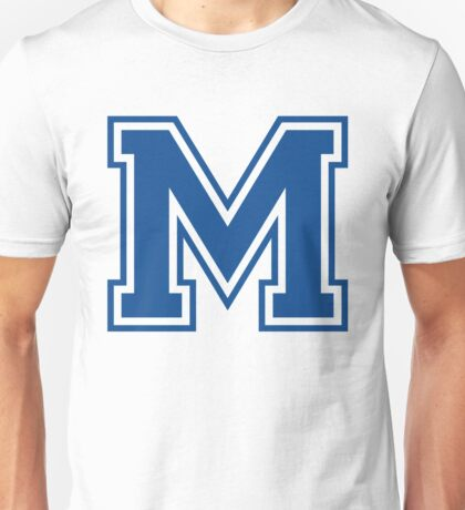 College letter M in blue Unisex T-Shirt