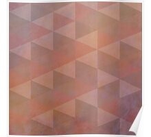 Geometric Patterns, Pale Coral and Brown Poster