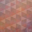 Geometric Patterns, Pale Coral and Brown by Cherie Balowski