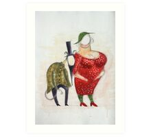 Couple - theatre character illustration (2010) Art Print