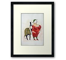 Couple - theatre character illustration (2010) Framed Print