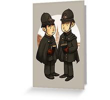 Victorian cops Greeting Card