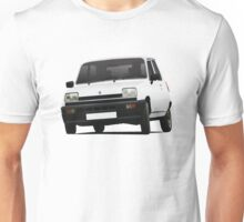 Cornering white Renault 5 - illustration Unisex T-Shirt