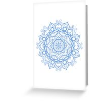 Floris blue Greeting Card
