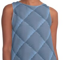 quilted fabric polyester fiber Contrast Tank