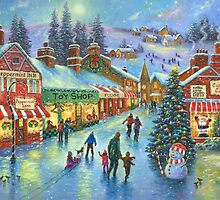 CHRISTMAS ON PEPPERMINT LANE PAINTING by VickieWade