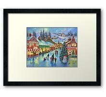 CHRISTMAS ON PEPPERMINT LANE PAINTING Framed Print