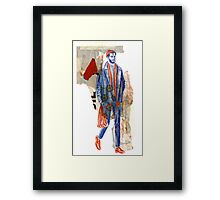 Grocery Shopping Hipster Framed Print