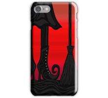 Halloween black witch iPhone Case/Skin