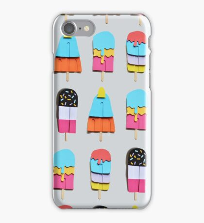 Paper popsicle pattern iPhone Case/Skin