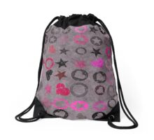 Grunge  hippie paper  Drawstring Bag