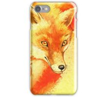 Watercolor autumn forest with red fox. iPhone Case/Skin