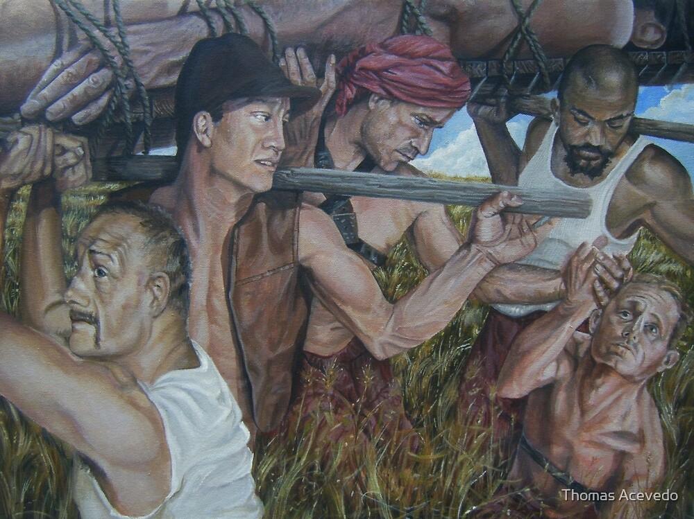 """The Myth  of Self"" acrylic on canvas by Thomas Acevedo"