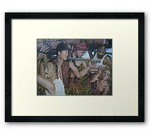 """""""The Myth  of Self"""" acrylic on canvas Framed Print"""