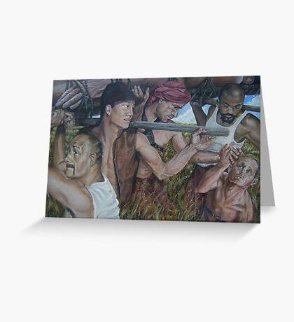"""The Myth  of Self"" acrylic on canvas Greeting Card"