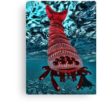 Microphone Monster Under the Sea Canvas Print