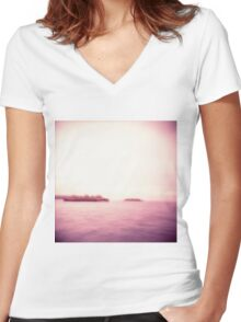 Sydney Manly Ferry Women's Fitted V-Neck T-Shirt