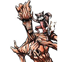 Groot and Rocket Photographic Print