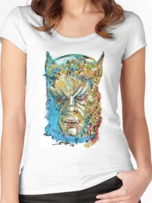 Curse of the Werewolf  Women's Fitted Scoop T-Shirt